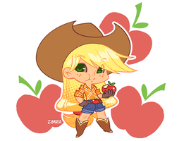 MLP Gijinka: Applejack by zimra-art