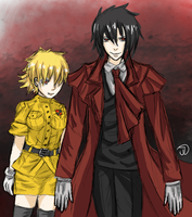 Seras and Alucard by Daughter-of-Liberty