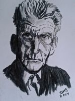 Samuel Beckett charcoal by Nimeire