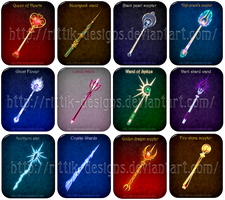 Magic wands and scepters (set 2) by Rittik-Designs