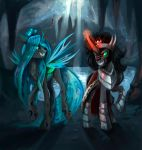 Chrysalis and Sombra by DearMary