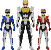 Additional Goseigers - Gosei Cubs by Taiko554