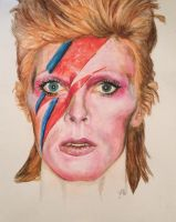R.I.P. Aladdin Sane by JulieSunflower