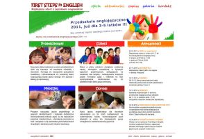 First Step in English website by michaelblackpl