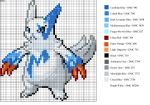 Shiny Zangoose Pattern by xXShadowKatXx