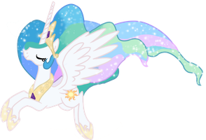 Galloping gala Song Celestia  vector by TheKrakenIndustries