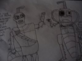 Hopper and General Mandible by FemaleJester1212