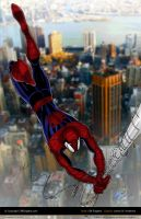 Spider-Man Swinging Colored by CliffEngland