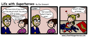 Life with Superheroes #19 by ZacAvalanche