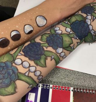 Pen Tattoos for funsies by ThoughtfulMelonlord