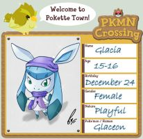 PKMN Crossing : Glacia The Glaceon by ARSugarPie