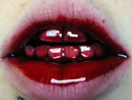 Bloody Mouth Stock by Lauren-CampbellStock