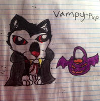 Vampy-Pup Halloween 2013 by YamiKariShadow6