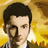 Bad Digital Paint 1: David Tennant by ahandgesture