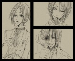 Rough sketches of Sebas by melancholinista