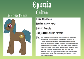 Eponia Application: Clip Cluck The Earth Pony by Zoruaofepic