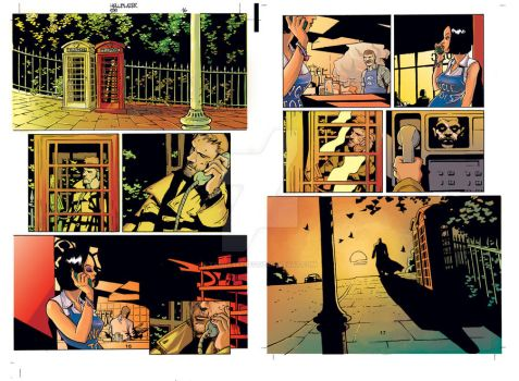 Hellblazer colored page by TashasOldAccount