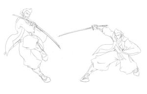 One Arm Ronin Sketches by Ronin-ink
