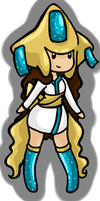 Jirachi Pokemon Girl Animated Adoptable by Queen-Of-Cute