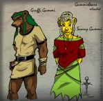 Gummibears reloaded- Gruffi and Sunny by uddelhexe