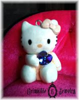Hello Kitty pendant by GrimhildeJewelry