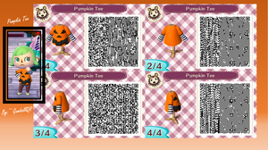 Pumpkin Tee by GumballQR