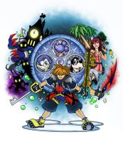 Kingdom Hearts Colored by MattFranklin