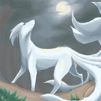 Forest Ninetales by sylvia65charm