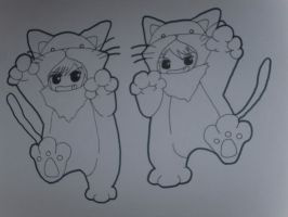 Hitachiin Twins as Cats by Orchid-Bud