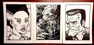 Monster Sketchcards by KR-Whalen