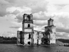 Church on the Lake by SerpentSapiens