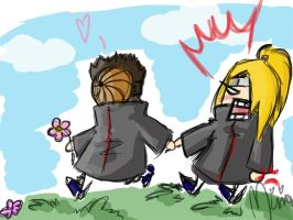 Deidara and Tobi XD by Carrie-Tempest