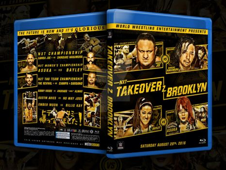NXT Takeover Brooklyn 2 custom Blu-ray cover by THE-MFSTER-DESIGNS