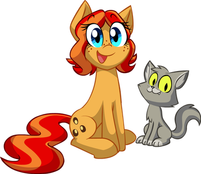 Peanut Bucker and Larson Cat by JeffKyler14