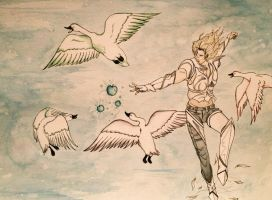 El Shaddai: Enoch and the Apples of Knowledge by seraphinwings