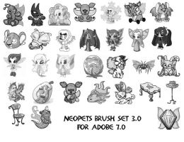 Neopets Faerie Brushes 3 by newdoll-stock