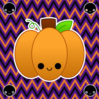 kawaii pumpkin by to-much-a-thing