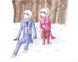 Snowy afternoon by Lyona-dono