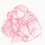 Commission 2 Of 2 Merida Young Macguffin kiss by pinkyapple
