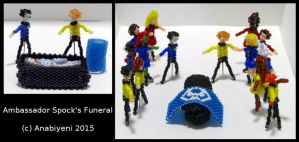 Beaded Spock's Funeral - tribute to Leonard Nimoy by Anabiyeni