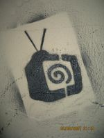 hypnotize tv stencil by deeparts