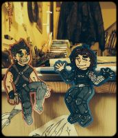 gift: Rumlow and Bucky by BrokenWinterSoldier