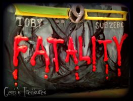 Eat My Fatality - Mortal Kombat Cake by gertygetsgangster