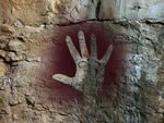 Cave hand painting by strange-art-gallery