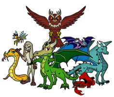 Owena Characters by Inkheart7