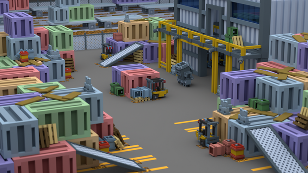 Shipping Yard - Multiplayer Concept by PandemicTyler