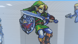Link in Minecraft by Mepisto