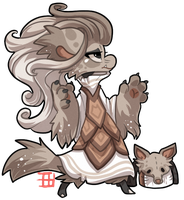 #399 Mythical Bagbean -  Inugami by griffsnuff