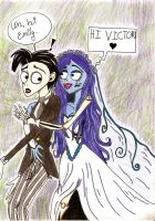 Corpse Bride Glomp by TheTweedleTwins