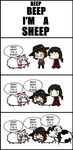 4 Koma Friday: BEEP BEEP I'M A SHEEP by Unknown-Nobody-XD115